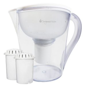 pH RESTORE Alkaline Water Pitcher Ionizer With 2 Long-Life Filters