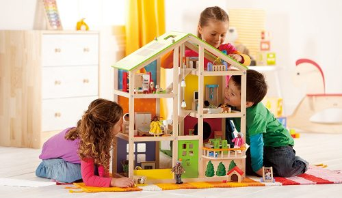 All Seasons Kid's Wooden Doll House