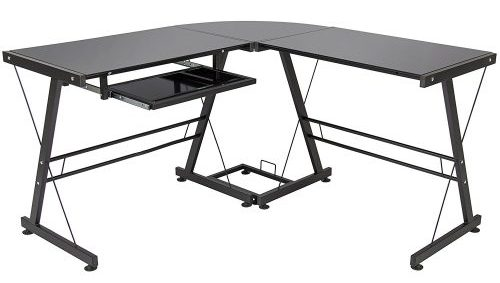 Best Choice Products L-Shape Glass Computer Desk