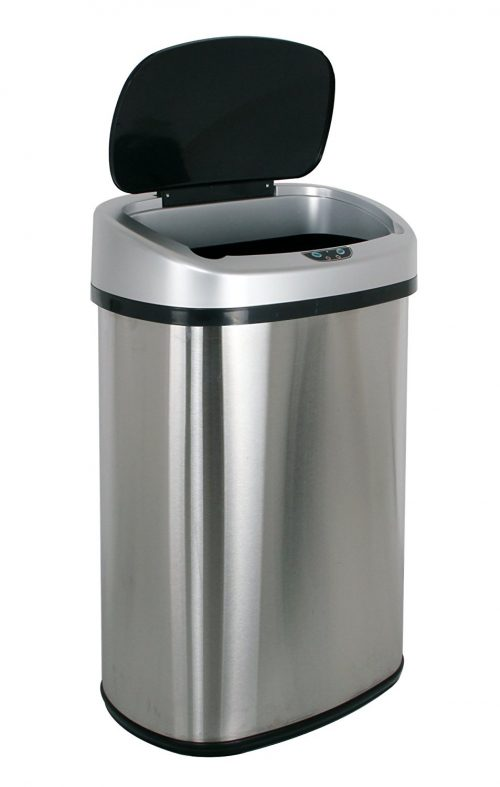 BestOffice Touch-free Sensor Automatic Stainless-Steel Trash Can
