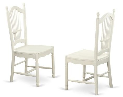 DOC-LWH-W Dover Dining Room Chairs With Wood Seat, dining chairs