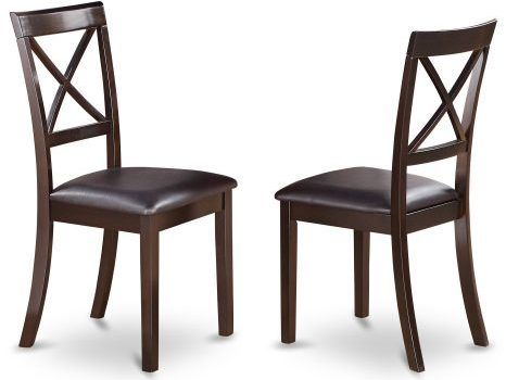 East West Furniture BOC-CAP-LC X-Back Dining Chair Set