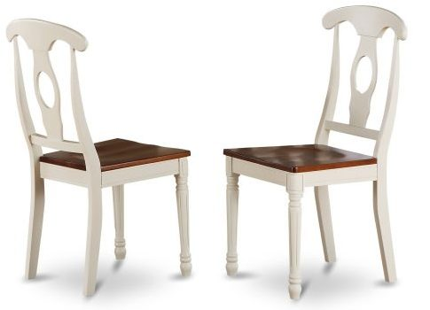 East West Furniture KEC-WHI-W Napoleon-Styled Dining Chair Set