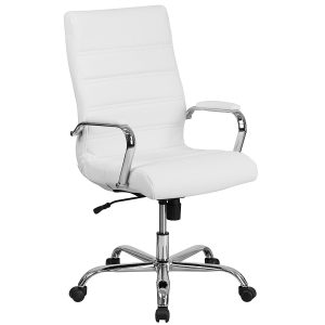 Flash-Furniture-Leather-Executive-Swivel-White-Office-Chair