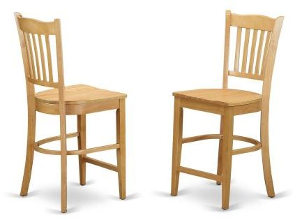 GRS-OAK-W Groton Counter Stools With Wood Seat, dining chairs