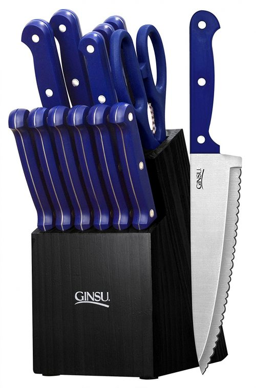 Ginsu Essential Series 14-Piece Stainless Steel Serrated Knife Set