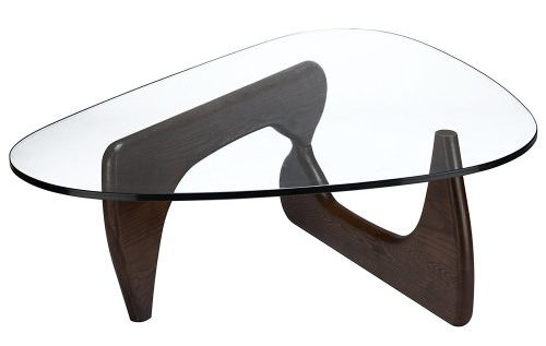 Isamu Noguchi Style Coffee Table, Dark Walnut
