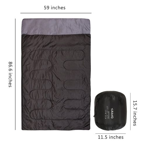 OtdAir Double Sleeping Bag with Pillows and Waterproof Lightweight Portable Sleeping Bag