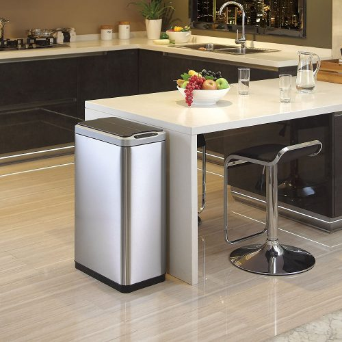 Phantom Motion Sensor Touchless Stainless Steel Trash Can