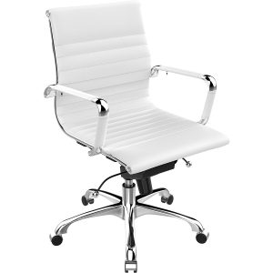 Poly-Bark-Management-Office-Leather-White-Office-Chair