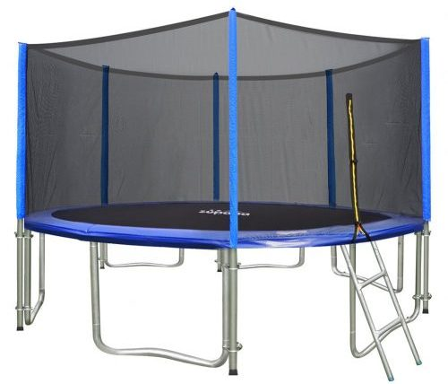Round Trampoline Combo with Safety Enclosure and Pole & Ladder