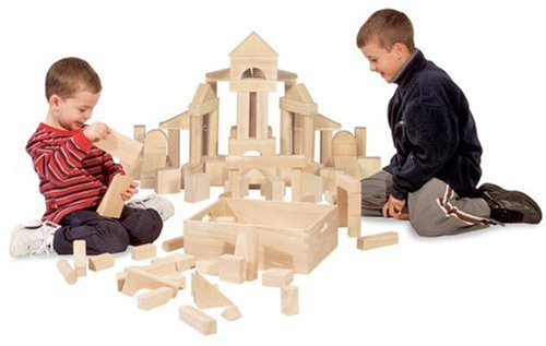 Standard Unit Solid-Wood Building Blocks With Wooden Storage Tray