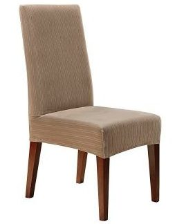 Sure Fit Stretch Pinstripe - Shorty Dining Room Chair Slipcover, dining chairs