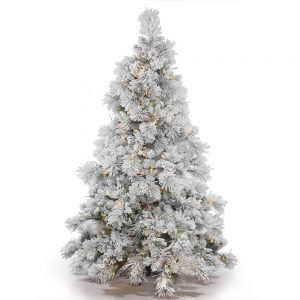 Vickerman-Flocked-Alberta-Artificial-Flocked Christmas tree