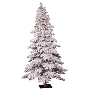 Vickerman-Flocked-Spruce-Artificial-Flocked Christmas Tree