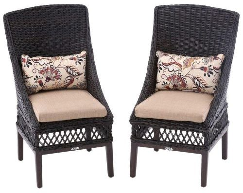 Woodbury Patio Dining Chairs with Textured Sand Cushion