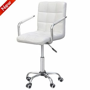Yaheetech-Leather-Adjustable-Executive-Chair-White-Office-Chair