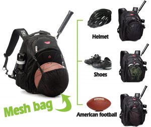 Basketball-Volleyball-Football-Softball-Backpack