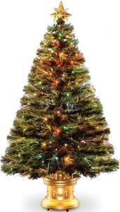 Celebrations-36-Inch-Artificial-Christmas-fiber optic Tree