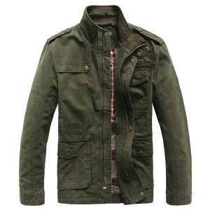 Fashion-Cotton-Collar-Military-Jacket men Windbreaker