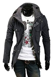 Fine Mens Military jacket men Style Hipster Hooded Long Sleeve Jacket Coat