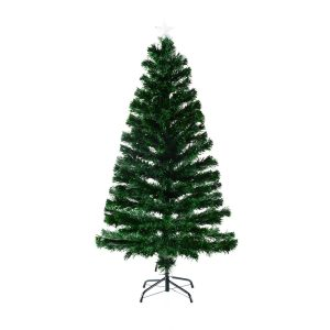 HomCom-Artificial-Pre-Lit-fiber Optics-Christmas tree