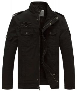 WenVen-Winter-Military-Jacket men