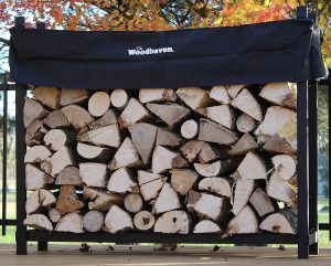 Woodhaven-Foot-Firewood holder-Rack-Cover