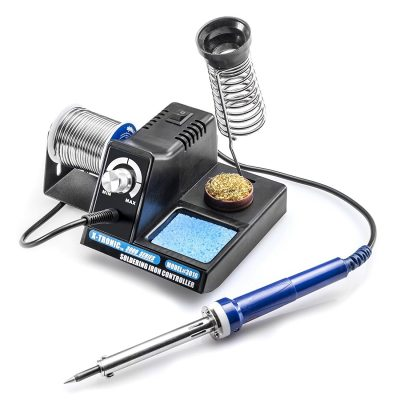 X-TRONIC 3000 SERIES - MODEL #3010-XTS VARIABLE POWER 70 WATT SOLDERING STATION WITH EXTRA HEATING ELEMENT AND SPONGE, BRASS SOLDERING TIP CLEANER INCLUDED WITH A SUPPLY OF FLUX IN THE BOTTOM OF THE CAN