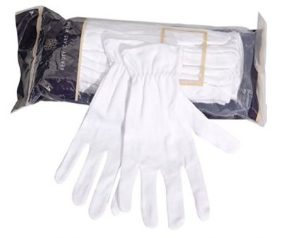 Beauty Care Wear Medium White Cotton Gloves for Eczema, Dry Skin, & Moisturizing 20 Gloves