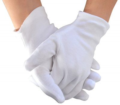Meta U Wholesale White Soft 100% Cotton Work Lining Glove (5 pairs)