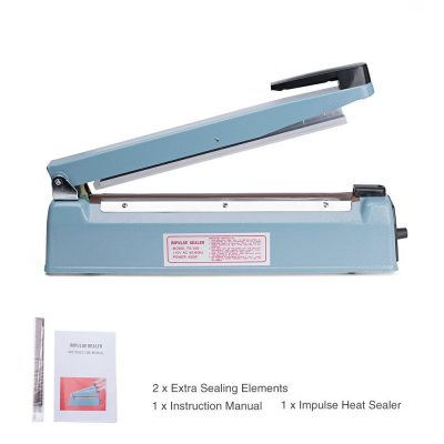 Metronic 12inch Heat Sealing Hand Impulse Poly Sealer Closer Machine W Element Grip &Teflon