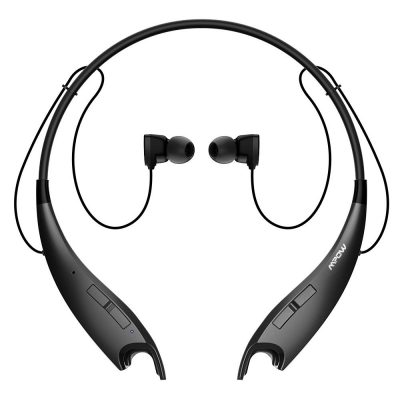 Mpow Jaws V4.1 Bluetooth Headphones Wireless Neckband Headset Stereo Noise Cancelling Earbuds w Mic (Black) TOP 10 BEST BLUETOOTH NECKBAND HEADPHONES IN 2019 REVIEW