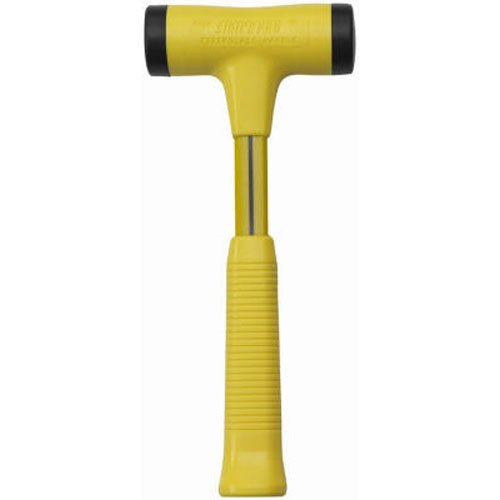 Nupla STP24 Strike Pro Power Drive Dead Blow Hammer, C Grip, Yellow, 12.25 inch Long Handle