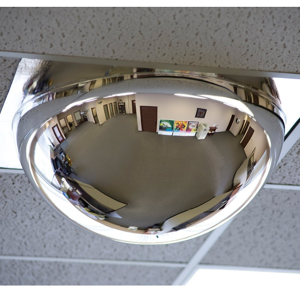 Relius Solutions Drop-In Panoramic Dome Mirror - For Use With 24X24 inch Ceiling Tiles - 24x24 inch