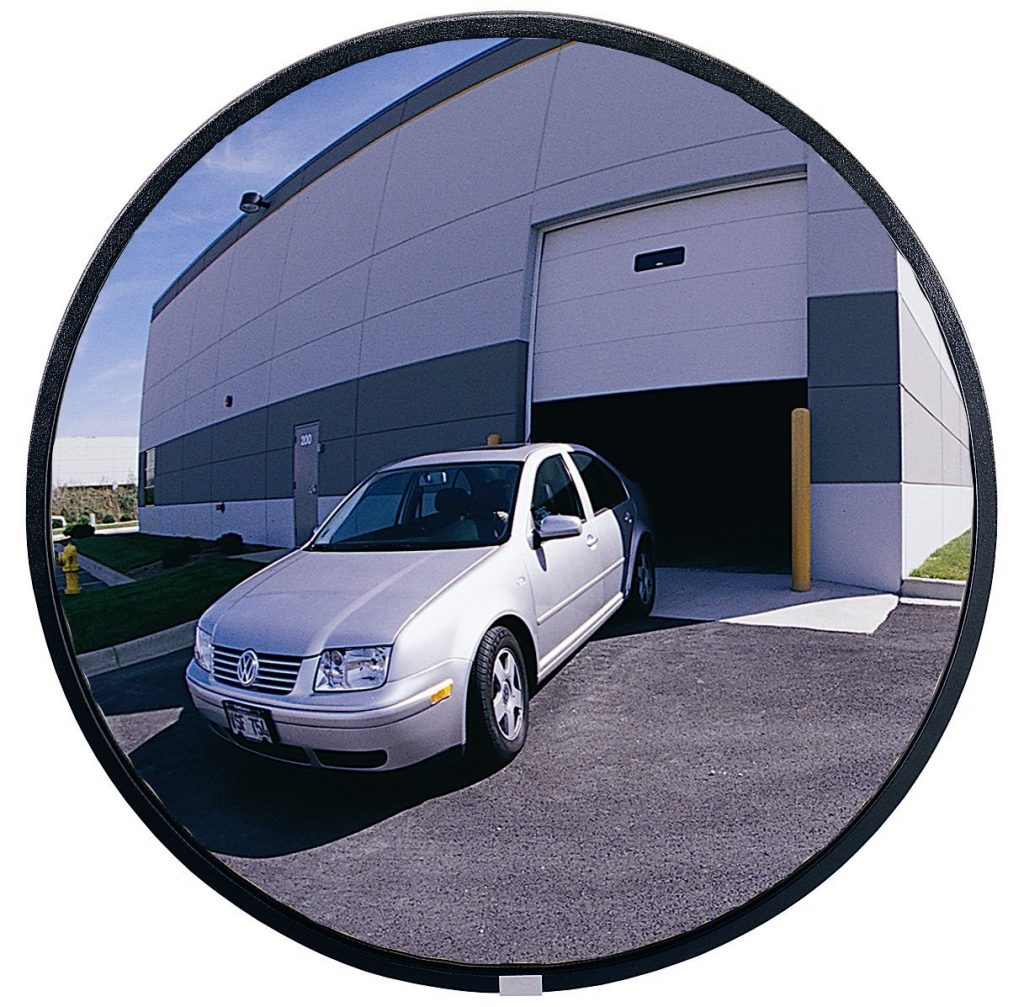 See All PLXO36 Circular Acrylic Heavy Duty Outdoor Convex Security Mirror, 36 inch Diameter (Pack of 1)