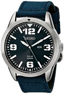 Seiko-SNE329-Sport-Solar-Powered-Stainless Solar Watches