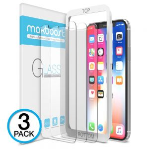 4. Maxboost, iPhone X Screen Protector
