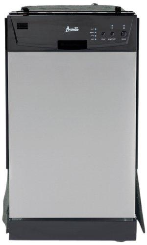 Avanti Model DWE1802SS Built-In Dishwasher, Stainless Steel