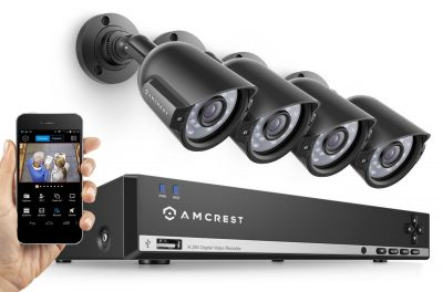 Amcrest 960H Video Security System Four 800+TVL Weatherproof Cameras, 65ft Night Vision, 984ft Transmit Range, 500GB HDD TOP 10 BEST HOME SECURITY CAMERAS IN 2020 REVIEWS