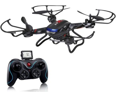 Holy Stone F181C RC Quadcopter Drone with HD Camera RTF 4 Channel 2.4GHz 6-Gyro with Altitude Hold Function,Headless Mode and One Key Return Home, Color Black