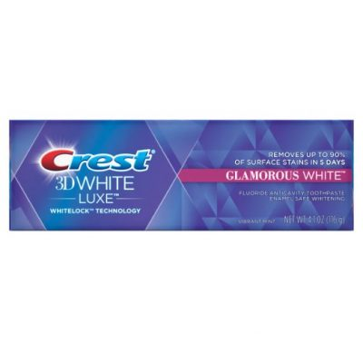 Crest 3D White Luxe Glamorous White Toothpaste, 3.5 oz 4-PACK