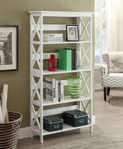 Convenience-Concepts-Oxford-5-Tier-White Bookcase