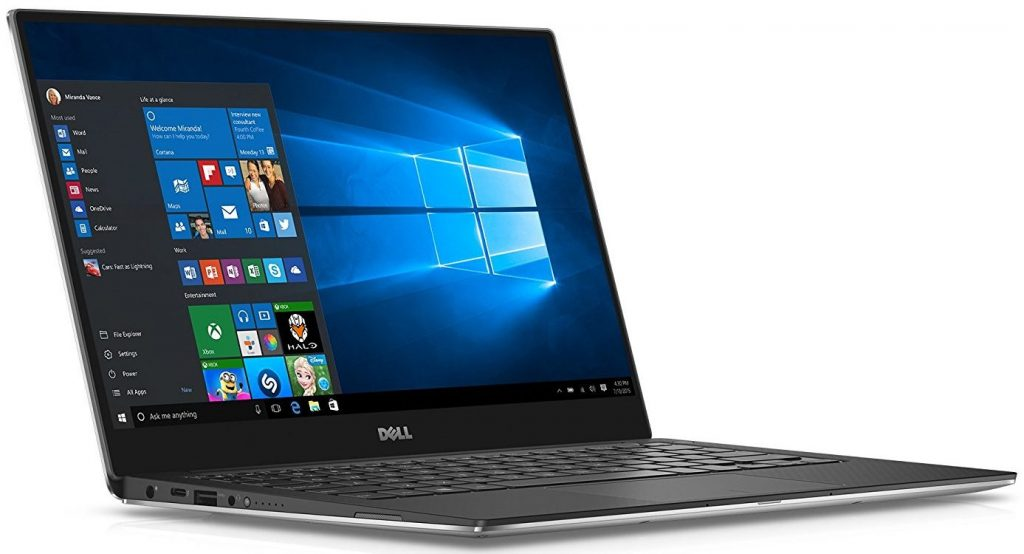 Dell XPS 9350-1340SLV 13.3 Inch Laptop (Intel Core i5, 8 GB RAM, 128 GB SSD, Silver) Microsoft Signature Image- Top 10 Best Ultrabooks in 2019 Reviews