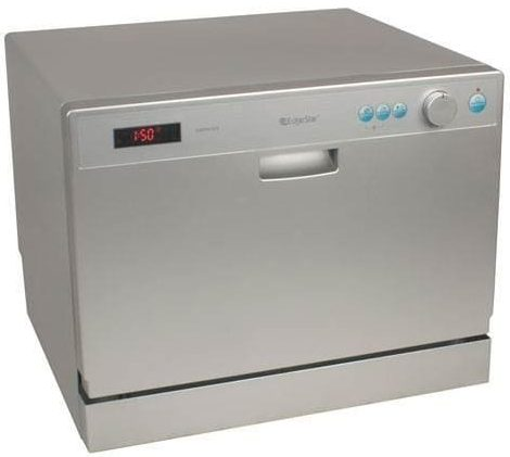 EdgeStar DWP61ES 6 Place Setting Countertop Portable Dishwasher - Silver