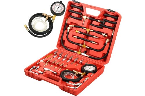 Fuel Injection Pump Injector Tester Pressure Test Gauge Manometer Gasoline Car Truck