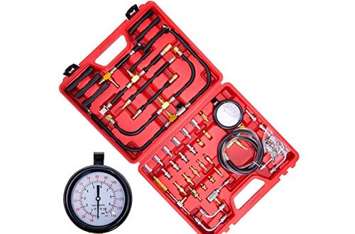 Orion Motor Tech 0-140 PSI Fuel Pressure Gauge Tester Tool Kit