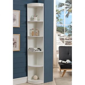 Furniture-America-Maleena-Corner-Bookcase