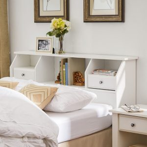 Headboard-Storage-Bookcase-Drawers-Shelves