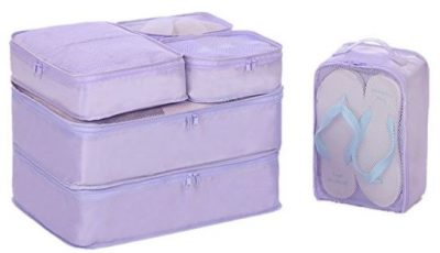 JJ POWER Travel Packing Cubes, Luggage Organizers with Shoe Bag
